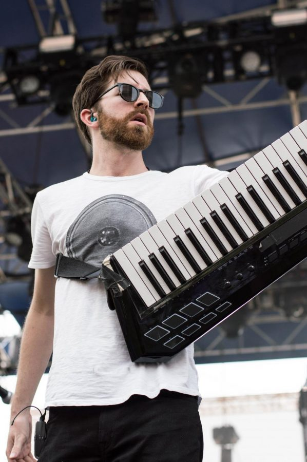 Synthpop duo Great Good Fine Ok played at Bunbury on Saturday.