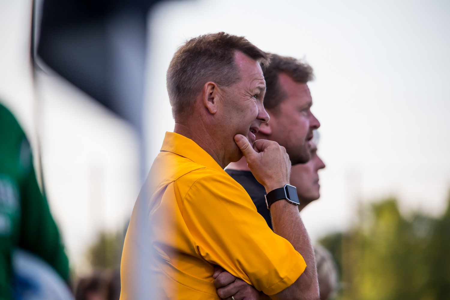 Women%27s+Soccer+Head+Coach+Bob+Sheehan+watches+during+the+game+against+Ohio+University.+The+Norse+fell+1-0+to+the+Bobcats+on+Sunday+night.