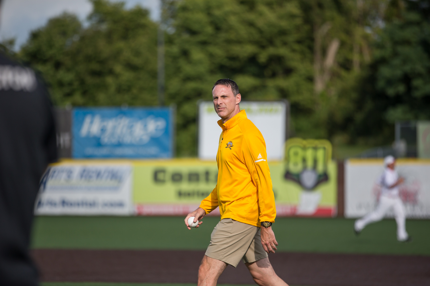 Men%27s+Basketball+Head+Coach+Darrin+Horn+stands+before+making+the+first+pitch+at+the+Florence+Freedom+Baseball+Game+on+NKU+Night%2C