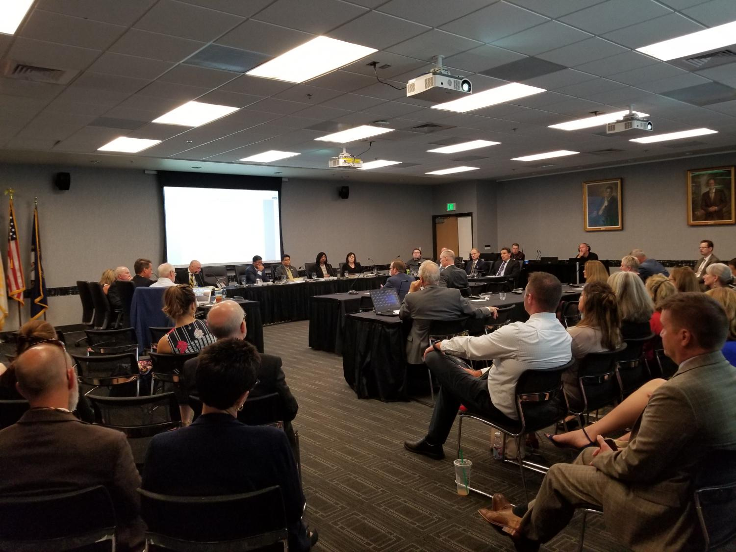 The Board of Regents had their first meeting on September 11th.