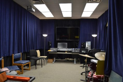 Audio production majors now equipped to record in new studio