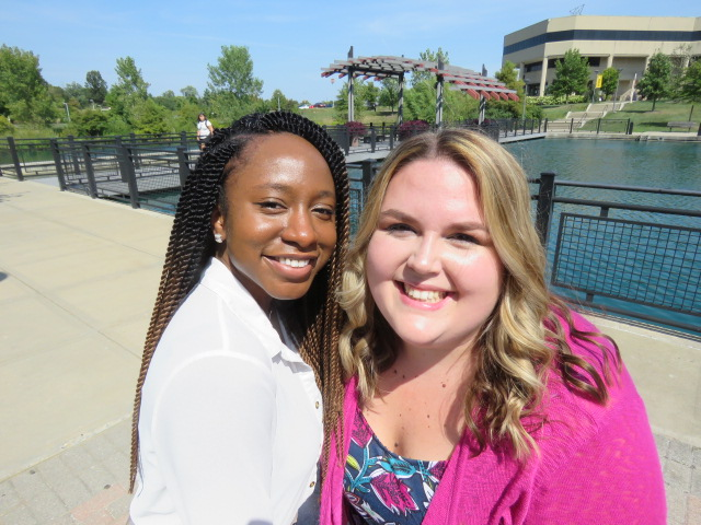 Chantelle Thompson and Brittany Combs are student counseling interns at Health, Counseling and Student Wellness.