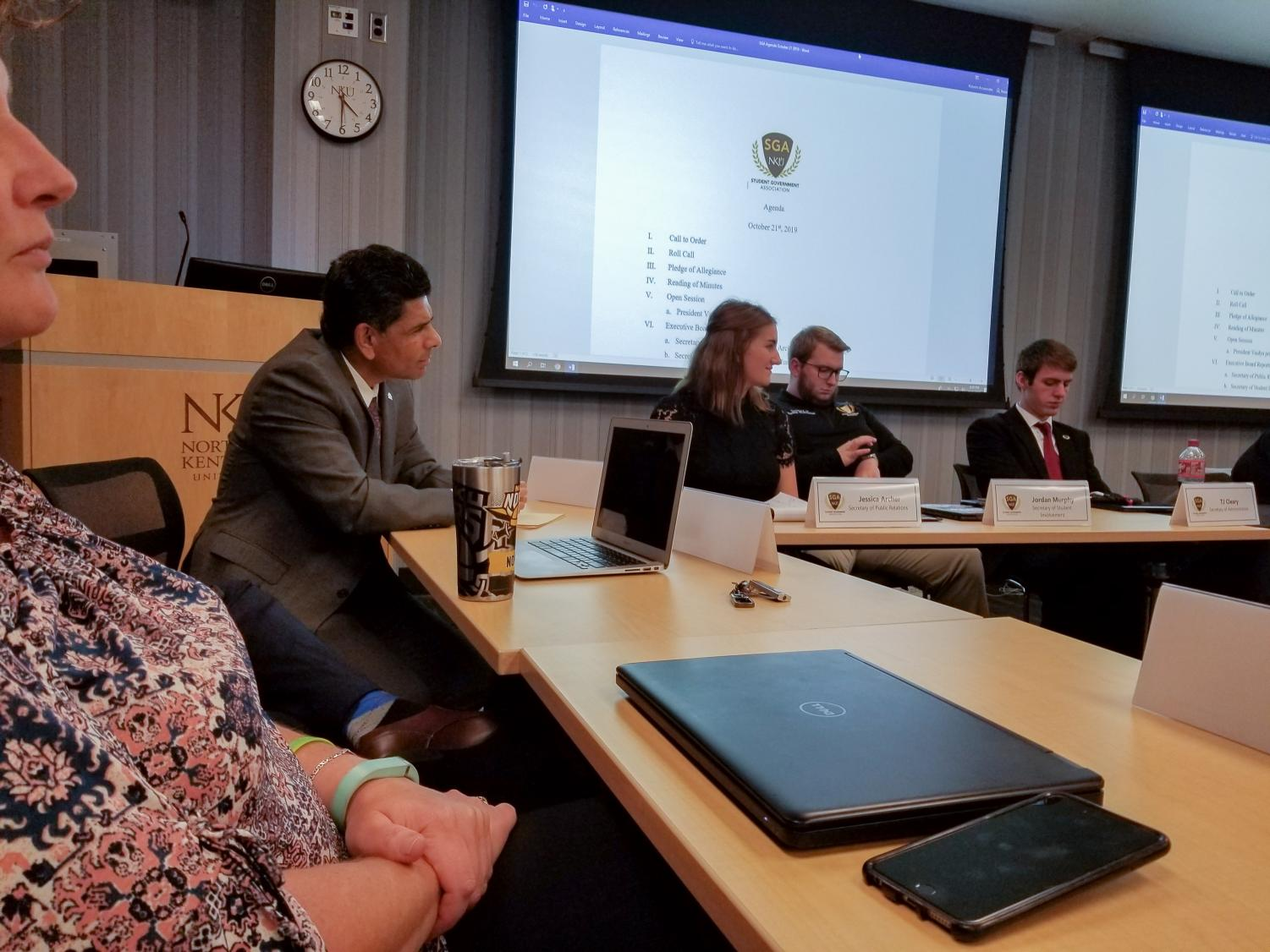 """President Vaidya attended the Oct. 21 meeting. Vaidya said, """"I do believe that great ideas can come from anywhere, as long as they keep the students front and center."""