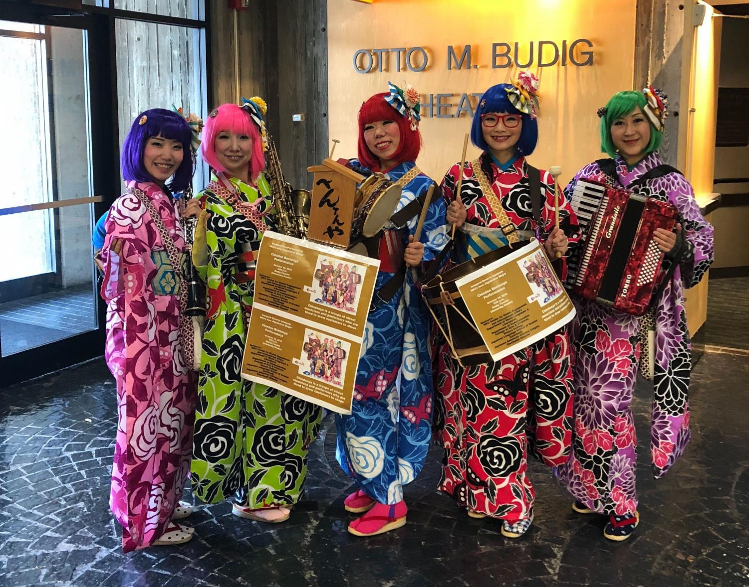 Japanese musical troupe performs in Otto Budig Theater