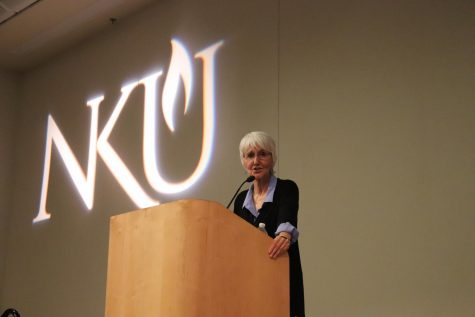 Sue Klebold, mother of Dylan Klebold, spoke to NKU students, staff, faculty and community members about mental health.
