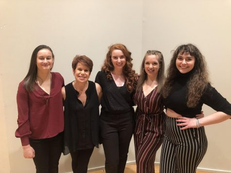 Dancers with dance coordinator and assistant professor of dance Tracey Bonner.