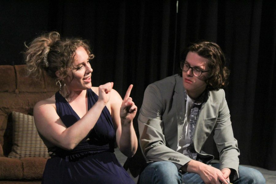 Sylvia begins to teach Billy—portrayed by Halee Hood and Barrett Minks—sign language.