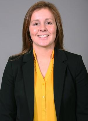 Photo of Assistant women's basketball coach, Kayla Kleifgen, courtesy of the NKU Athletics Department.