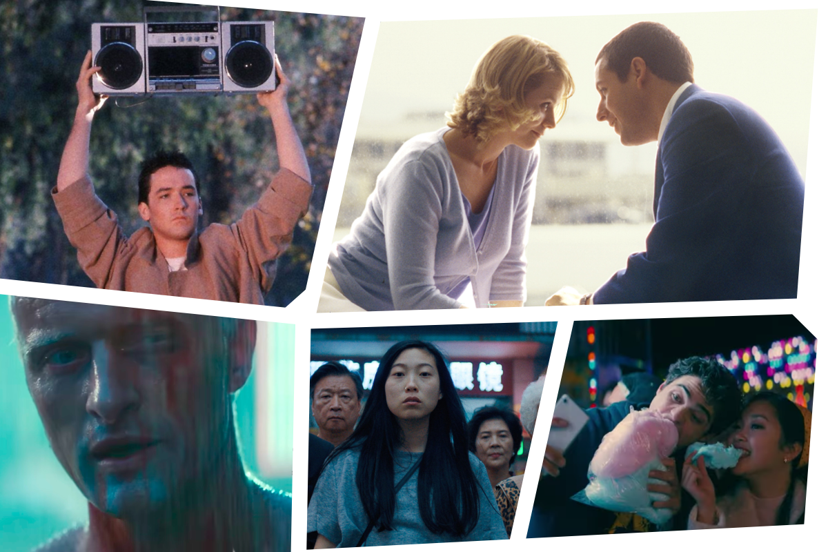 From left to right: Say Anything, Punch Drunk Love, Blade Runner, The Farewell, To All The Boys 2: P.S. I Still Love You.