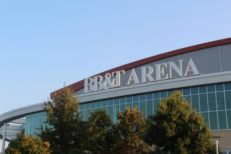 The exterior of BB&T Arena.