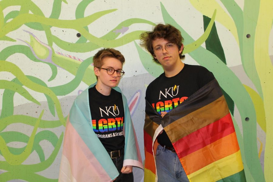 Ray Archer (left) and Austin Adams (right) formed Friends of Dorothy for queer men and masculine-aligned people attracted to men.
