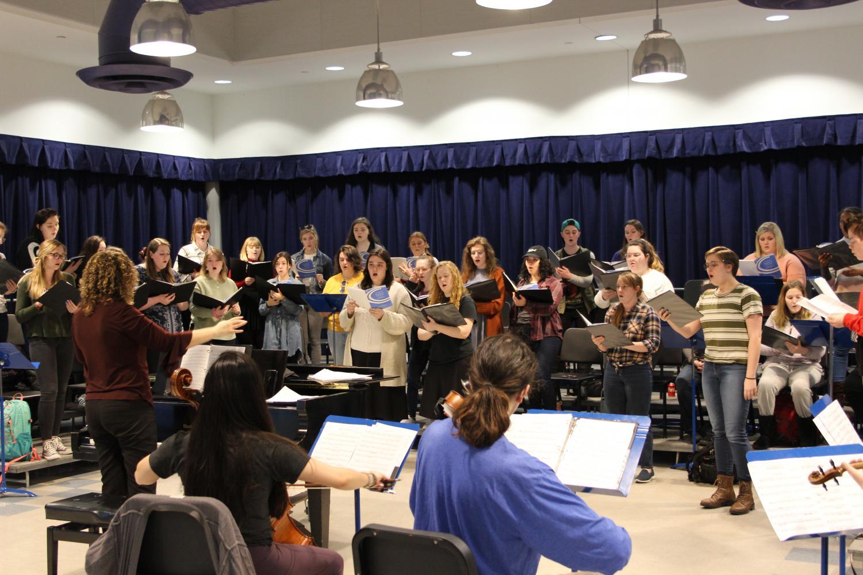 The NKU Women's Choir, led by Katie Barton.