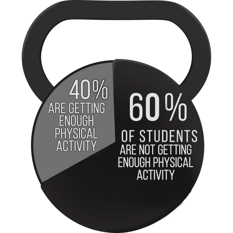 60 percent of students aren't getting enough physical activity, according to a study by Northwestern Medicine and Northeastern Illinois University.