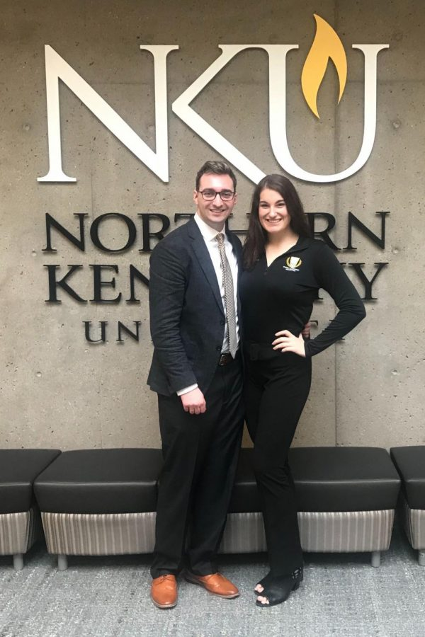 Pictured left to right, Jacob Wilson, vice president, and Jessica Archer, president, are running for president and vice president.