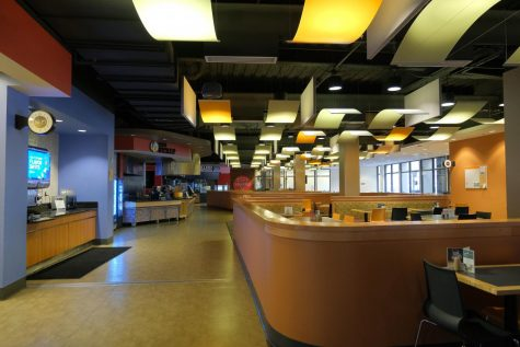 The Student Union food court now devoid of patrons.