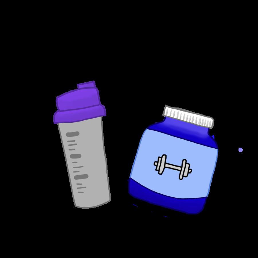 A shake tumbler and powder.