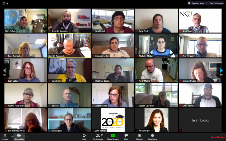 The COVID-19 response task force meets virtually everyday at noon.