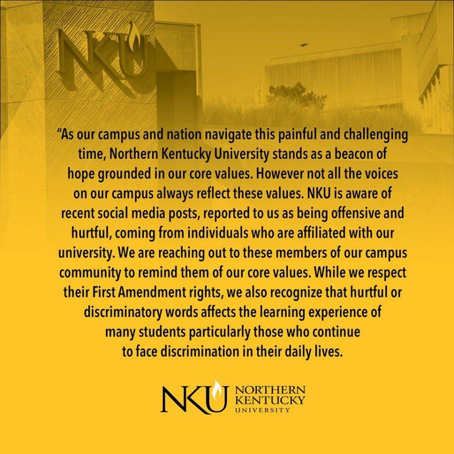 NKUs statement released Thursday.
