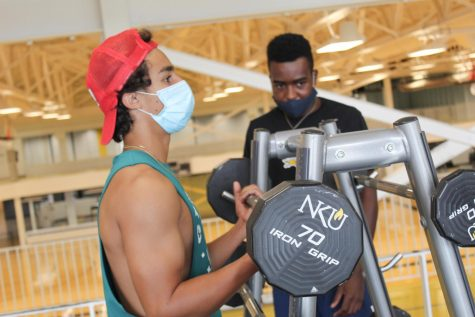 When working out, students must wear a facial covering.