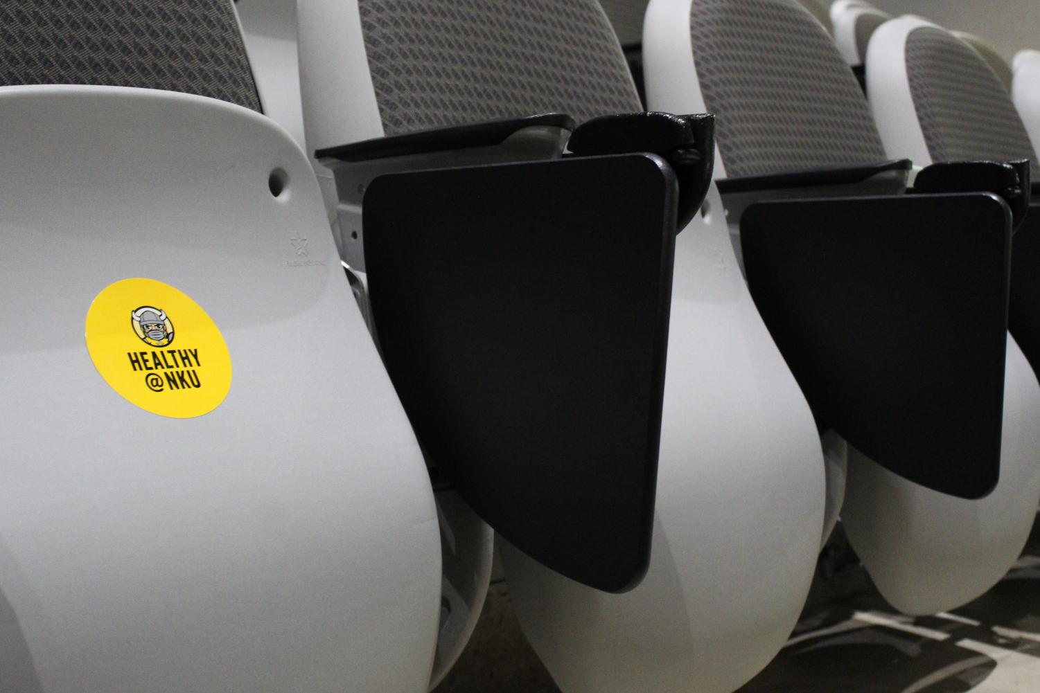 In MEP 200, there are stickers indicating what seats are available to be sat in.