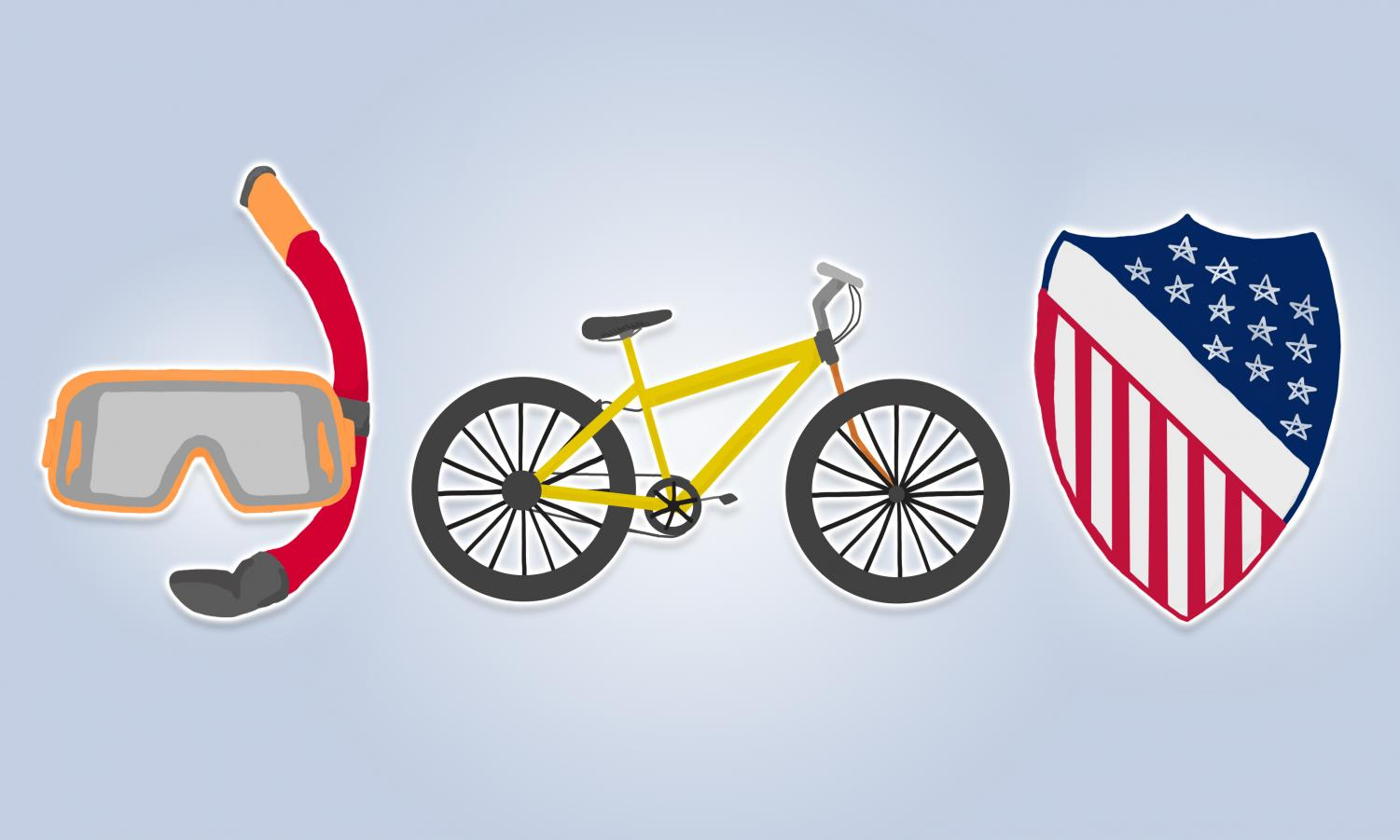 Scuba Club, Cycling Club and The League Of United Latin American Citizens illustrations