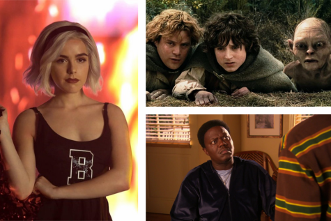 (Left) Chilling Adventures of Sabrina on Netflix, (Top) The Lord of the Rings on Hulu, (Bottom) The Bernie Mac Show on Prime Video