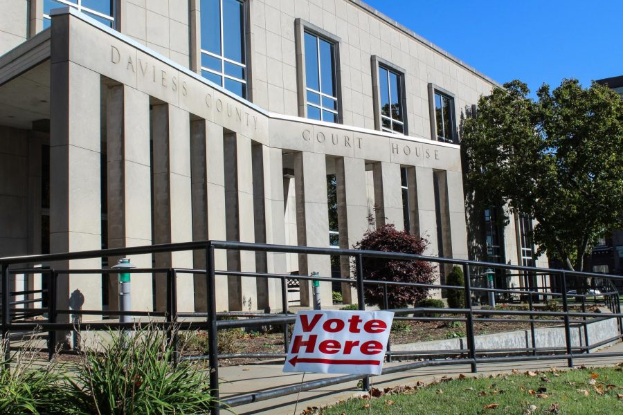 The Daviess county courthouse where Josh Kelly voted.