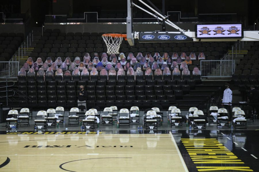 NKU and BB&T Arena are offering fans the opportunity to buy a cardboard cutout of themselves to place in the stands during home games.