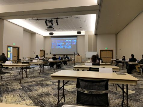 SGA senators and visitors have the option to convene either in-person or online this semester.