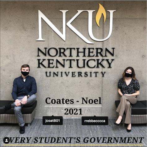 Jackson Coates and Rebecca Noel are running for SGA president and vice president (via coatesnoelnkusga on Instagram).
