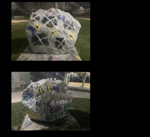 Photo of the vandalism.