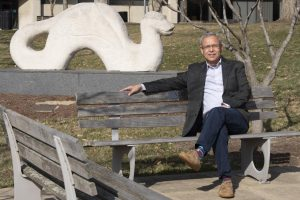 Leo Calderón poses for a photo on NKU's campus. Calderón has served as the Director of Latino Student Initiatives for the past 35 years.
