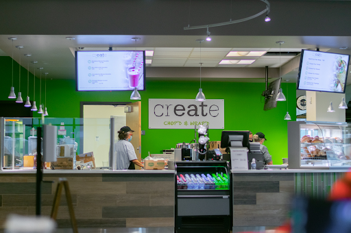 New for this year, students can enjoy salads and wraps at Create Chop'd and Wrapped.