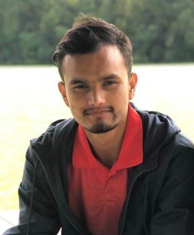 Bikash Acharya, a freshman physics major from Nepal.