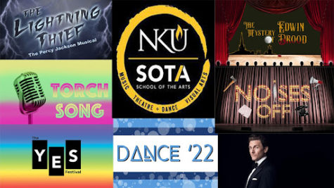 A graphic of upcoming shows and musicals for SOTA.